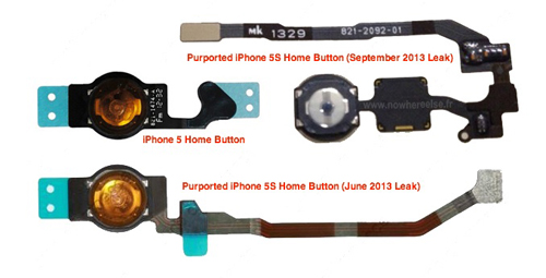 iphone5S home Des photos du nouveau bouton Home avec lecteur dempreintes digitales ?