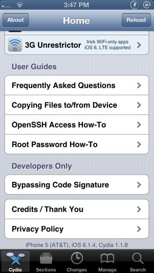 jailbreak ios 6 1 4 LiOS 6.1.4 sur iPhone 5 est jailbreaké