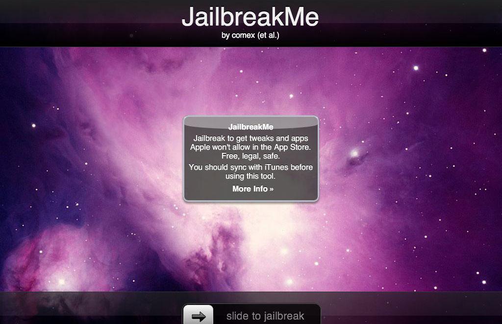 jailbreakme 1 Le jailbreak de liOS 6.1.3/6.1.4 pourrait se faire via une nouvelle version de JailbreakMe