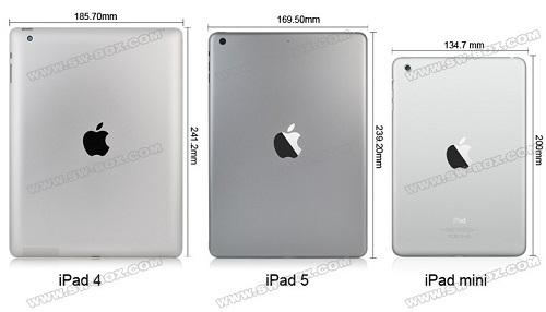 oem genuine ipad 5 metal aluminum battery back cover housing replacement part wifi version   grey ipad comparison Une nouvelle vidéo du futur iPad 5 ?