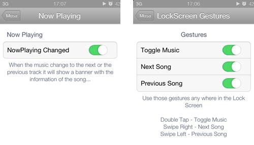 screens musa21 Cydia : Musa, obtenez rapidement des informations sur la musique jouée
