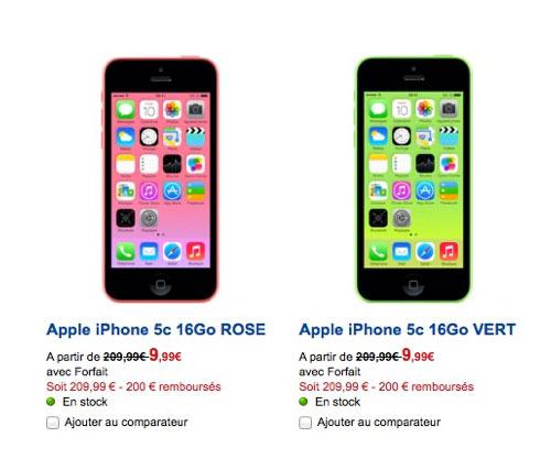 sfr iphone 5c LiPhone 5C passe à 9,99 € chez SFR