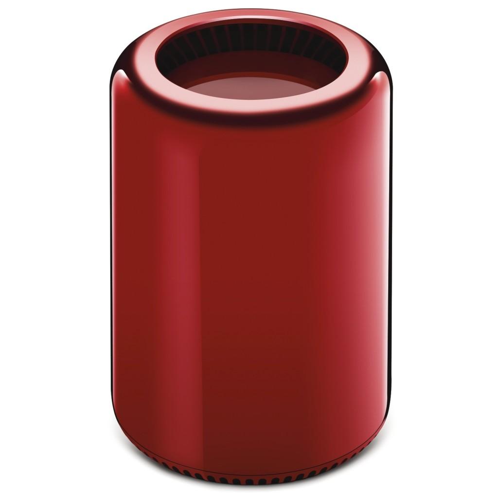 130819RD macpro 128 key and front 1024x1013 Un Mac Pro rouge pour une oeuvre de charité
