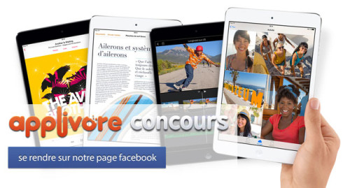 applivorecontest iph1 500x269 CONCOURS : Gagnez un iPad Mini