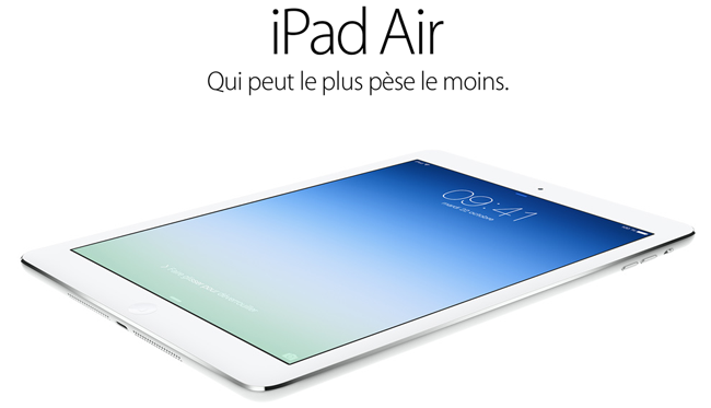 iPad Air Le coût dun iPad Air estimé entre 274 et 361$