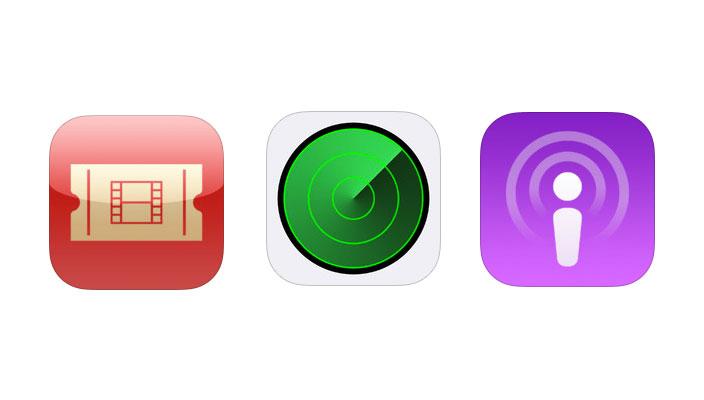 icones application apple podcstas localiser mon iphone Insolite : le côté sombre de localiser mon iPhone