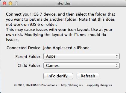infolder InFolder : Créez des sous dossiers sous iOS 7 sans jailbreak