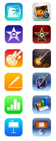 ios 6 vs ios 7 iwork ilife Apple dévoile les nouvelles icônes des applications iWork et iLife