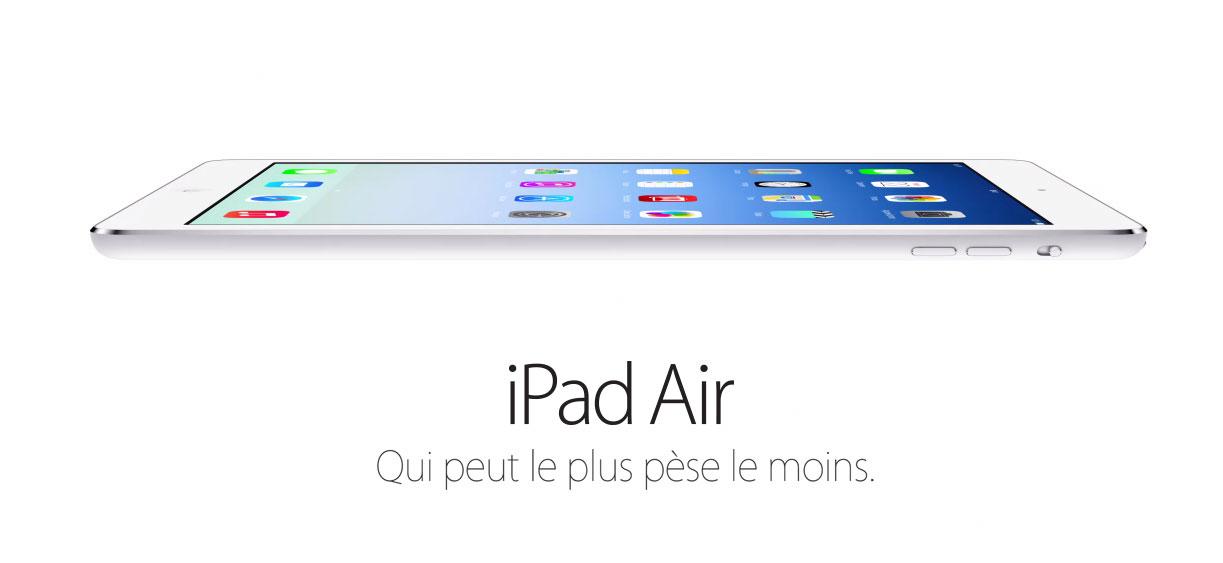 ipad air Le bilan du keynote : iPad Air, iPad Mini 2 et OS X Mavericks