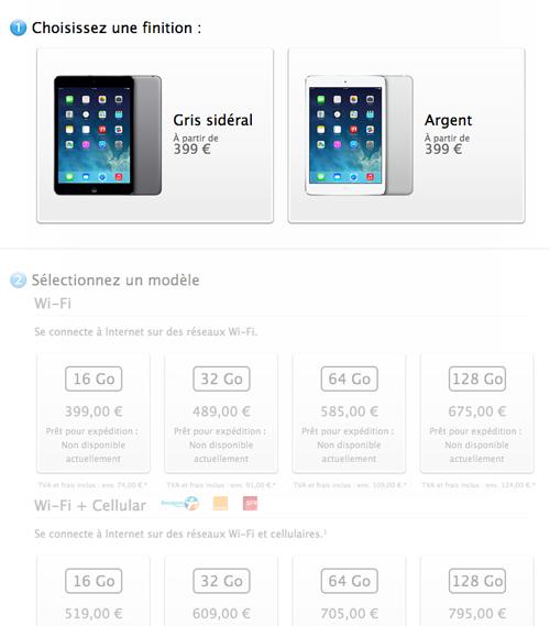 ipadmini Le bilan du keynote : iPad Air, iPad Mini 2 et OS X Mavericks