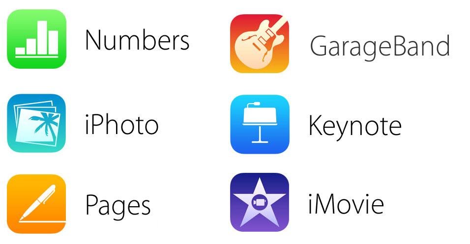 iwork icons flat ios 7 Apple dévoile les nouvelles icônes des applications iWork et iLife