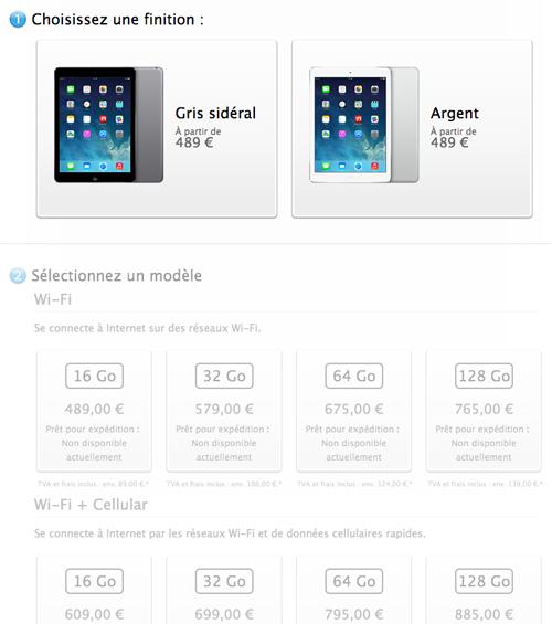 prixipadair Le bilan du keynote : iPad Air, iPad Mini 2 et OS X Mavericks