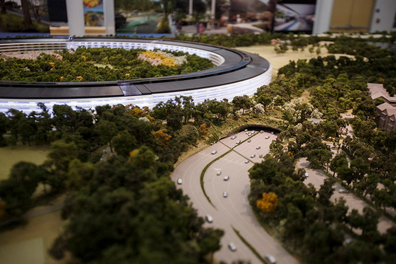 ssjm1013apple004 L Apple dévoile la maquette 3D de son futur campus