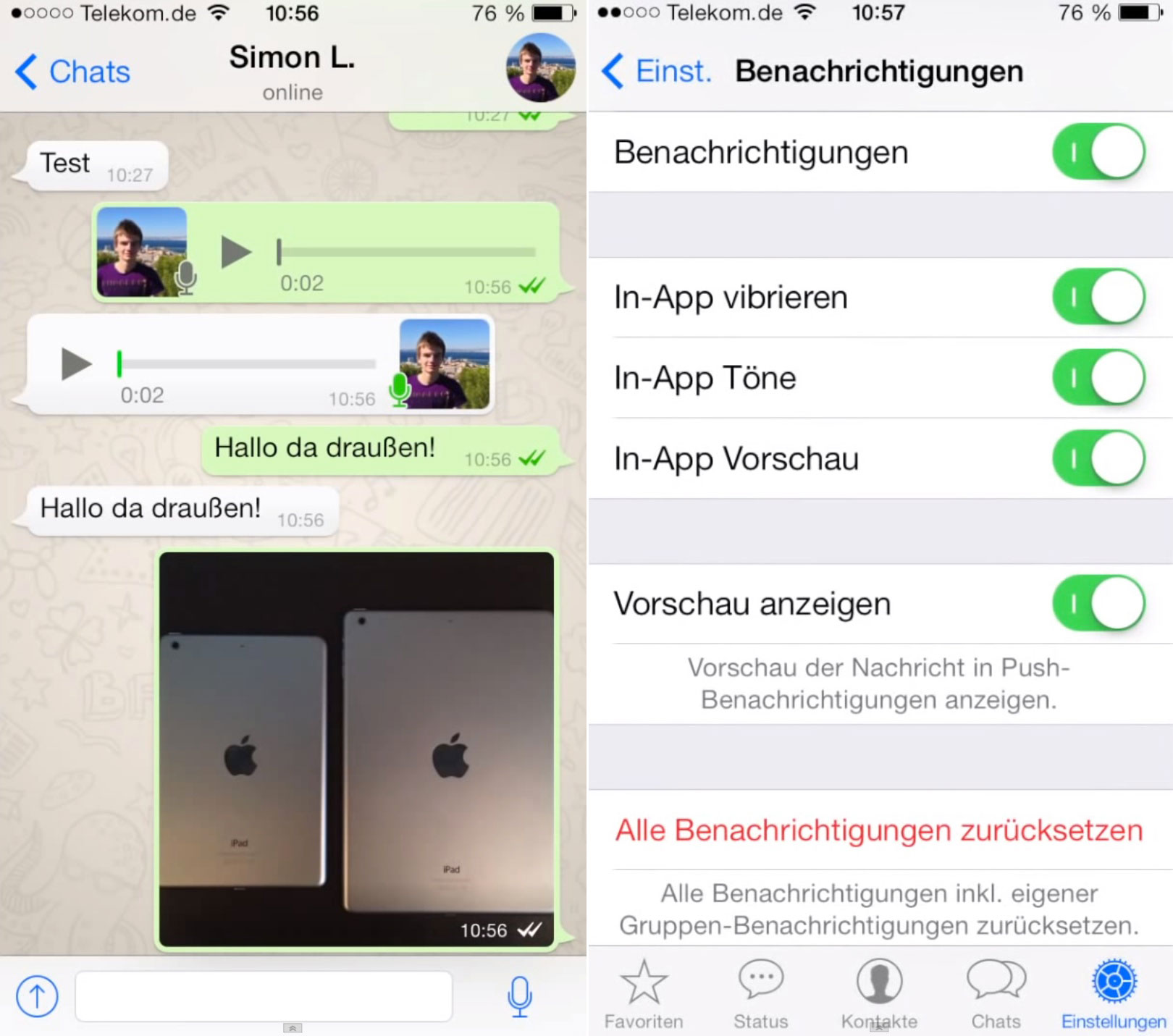 WhatsApp iOS 7 uodate image 001 WhatsApp pour iOS 7 en vidéo