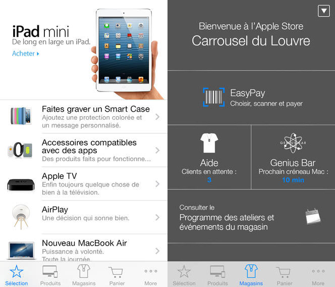 apple store app1 LApp Apple Store se met à jour