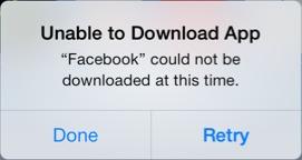 facebook app store error Des problèmes avec les dernières mises à jour Facebook [MàJ]