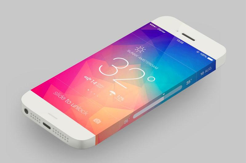 iphone 6 wrap around screen concept 01 Apple travaillerait sur des écrans iPhone courbés et de nouveaux capteurs