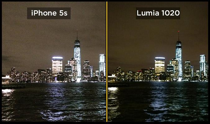 lumia 1020 iphone 5s manhattan night Photographie : LiPhone 5S plus performant que le Nokia Lumia 1020