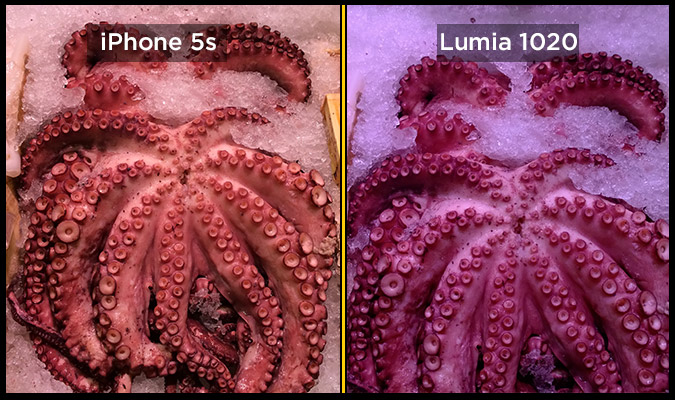 lumia 1020 iphone 5s octopus Photographie : LiPhone 5S plus performant que le Nokia Lumia 1020