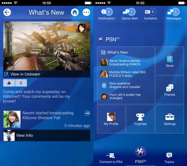playstation app ios Sony dévoile lapplication iOS pour la PS4