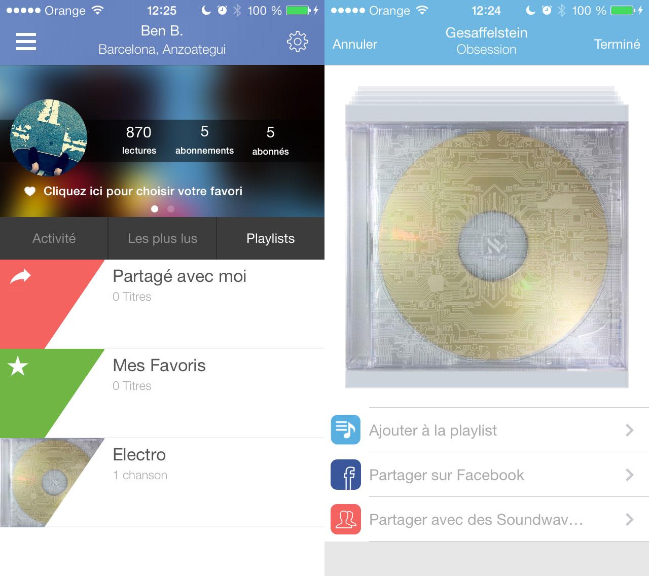 soundwave Soundwave permet de créer vos propres listes de lecture
