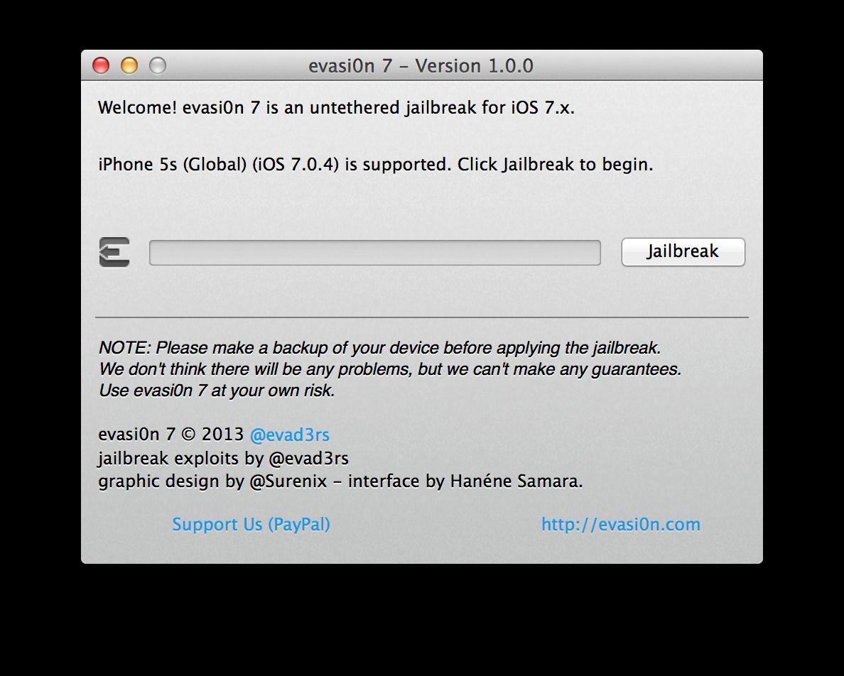Capture d'écran 2013 12 22 à 13.32.04 [TUTO] evasi0n 7 : Jailbreak Untethered iOS 7.x pour iPhone 5S et plus