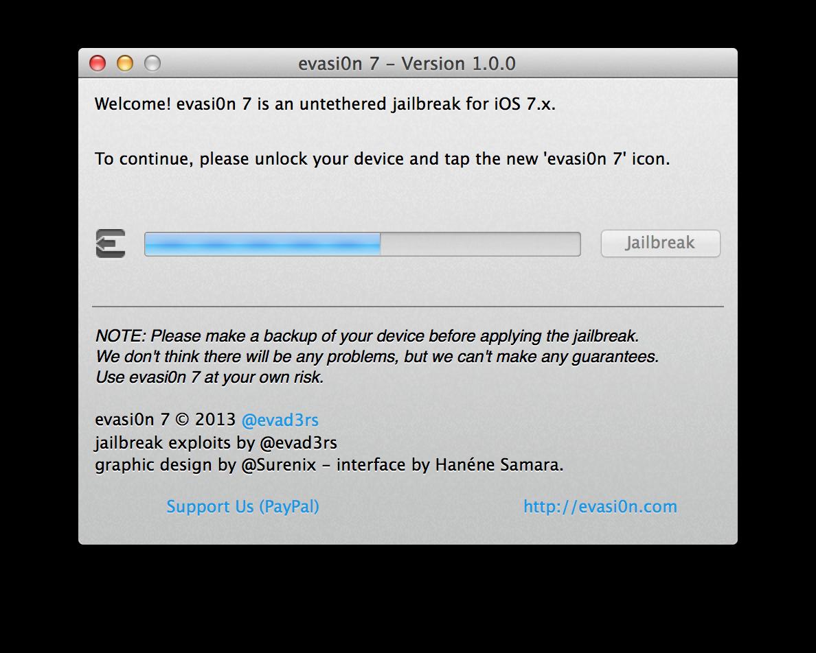 Capture d'écran 2013 12 22 à 13.35.07 [TUTO] evasi0n 7 : Jailbreak Untethered iOS 7.x pour iPhone 5S et plus