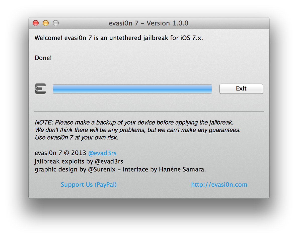 Capture d'écran 2013 12 22 à 13.37.15 [TUTO] evasi0n 7 : Jailbreak Untethered iOS 7.x pour iPhone 5S et plus