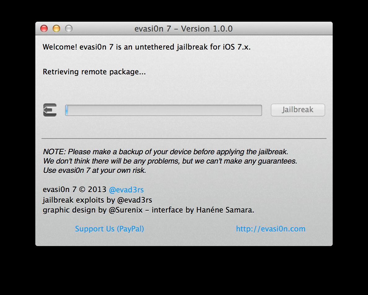 Capture d'écran 2013 12 22 à 13.32.24 [TUTO] evasi0n 7 : Jailbreak Untethered iOS 7.x pour iPhone 5S et plus