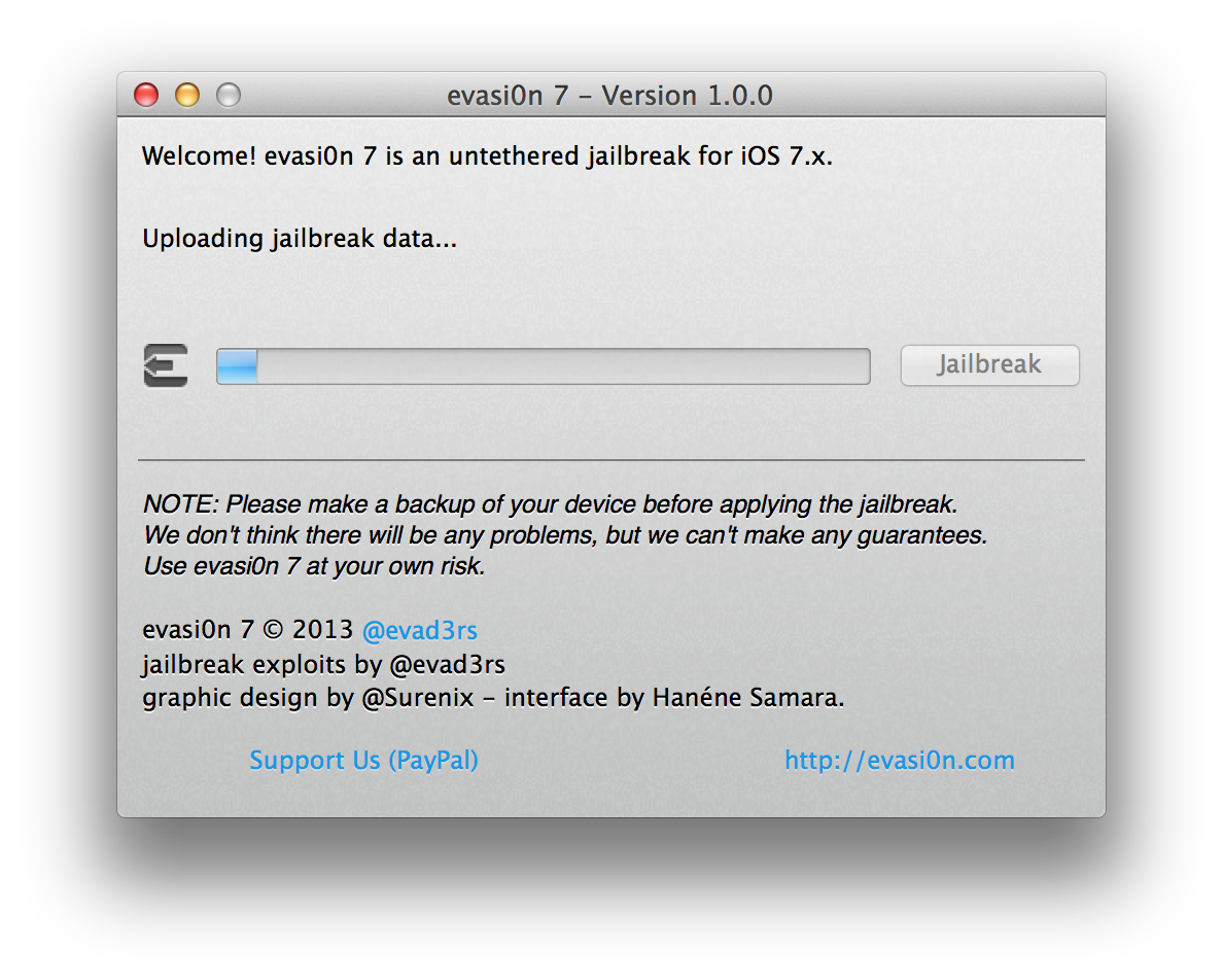 Capture d'écran 2013 12 22 à 13.32.31 [TUTO] evasi0n 7 : Jailbreak Untethered iOS 7.x pour iPhone 5S et plus