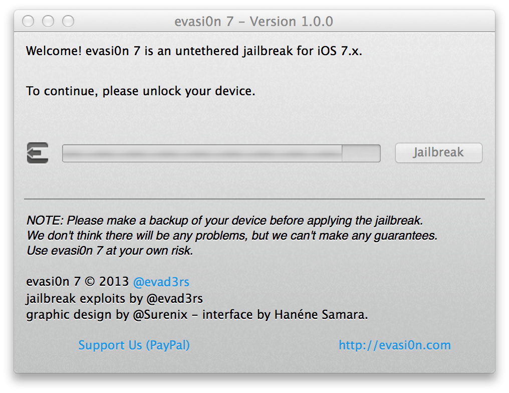 Capture d'écran 2013 12 22 à 13.36.37 [TUTO] evasi0n 7 : Jailbreak Untethered iOS 7.x pour iPhone 5S et plus