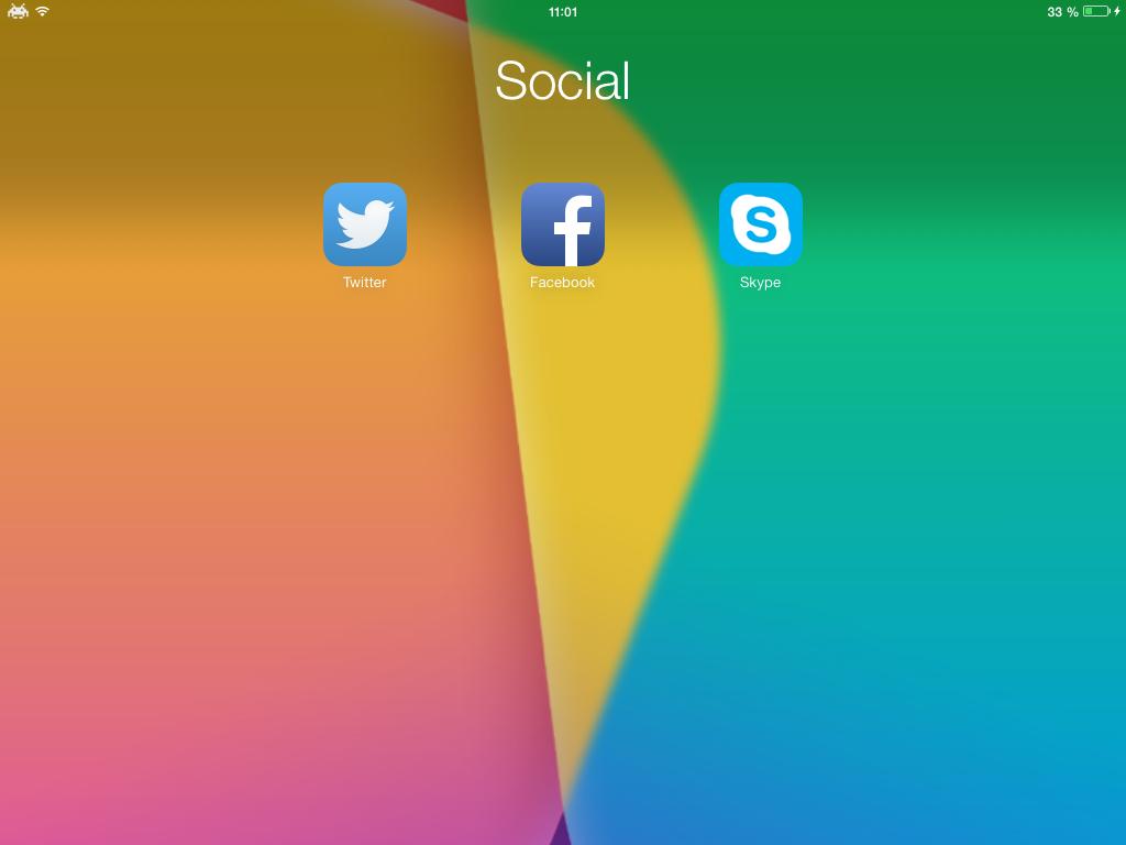 ClearFolders 1 Cydia : ClearFolders, supprimez le fond blanc des dossiers iOS 7