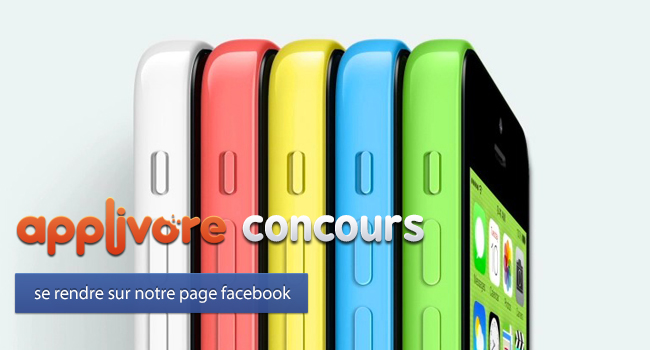 applivorecontest iph iPhone 5C FIN DU CONCOURS : iPhone 5C