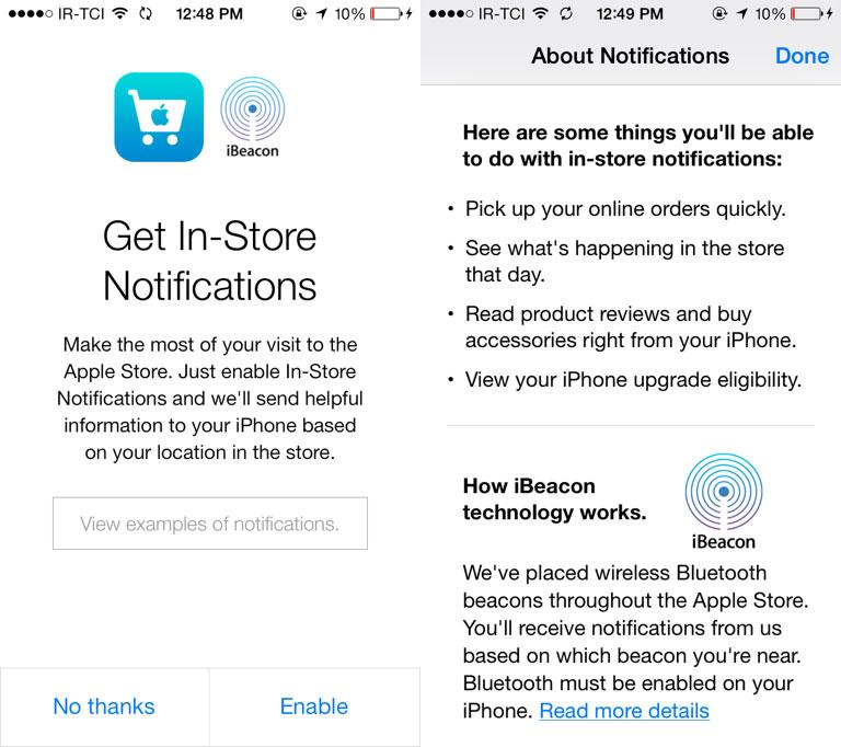 ibeacon Apple déploie iBeacon dans les Apple Store