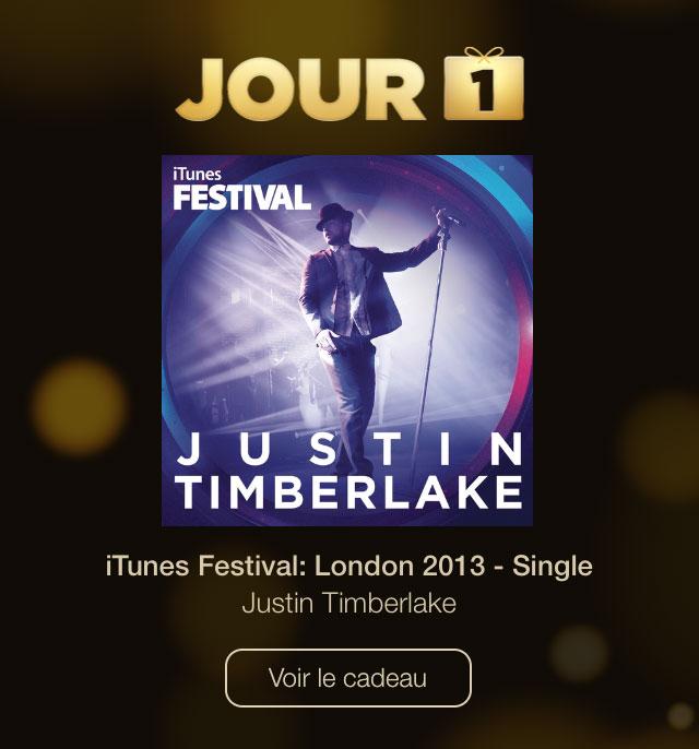 justin timberlake Les 12 jours de cadeaux Apple commencent aujourdhui