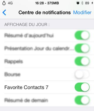 FavoriteContacts7 320x376 Cydia  : Favorite Contacts 7, ajoutez vos contacts favoris au centre de notifications