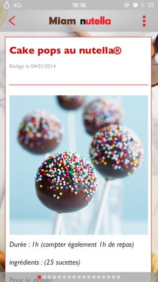 Miam Nutella 1 320x568 Fan de Nutella ? Cette application est faite pour vous !