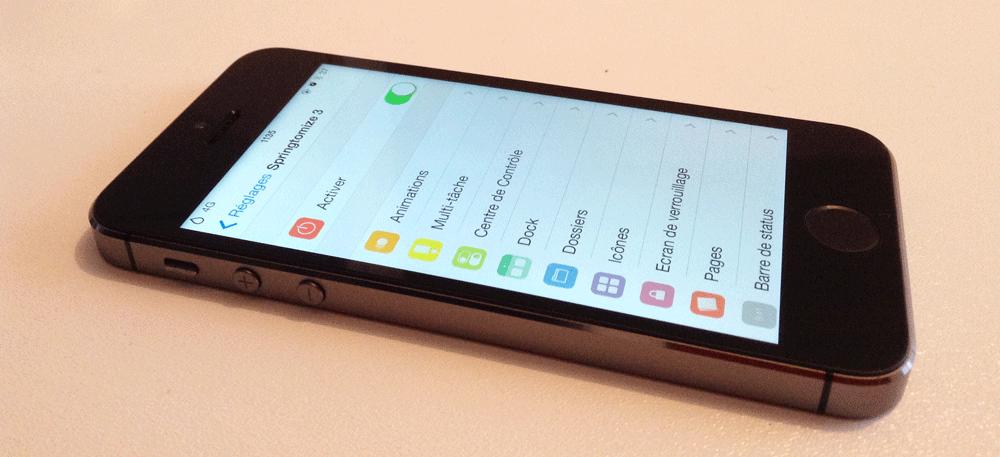 Springtomize3 2 Cydia : Les plus grands tweaks désormais compatibles iOS 7.1.X