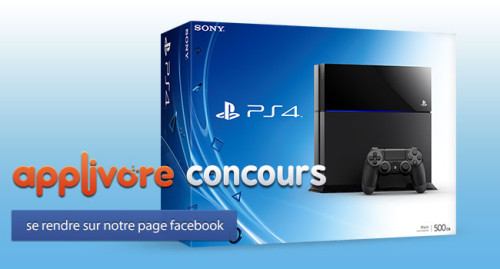 applivorecontest iph 500x269 FIN DU CONCOURS : PlayStation 4