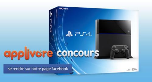 applivorecontest iph 500x269 FIN DE CONCOURS : PlayStation 4