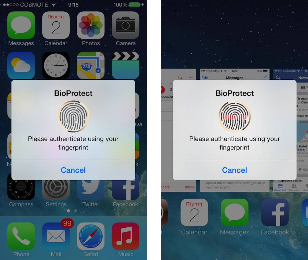 bioprotect1 Cydia : BioProtect, déverrouillez vos applications avec le Touch ID