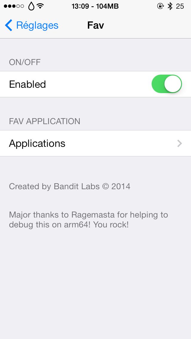 fav 3 Cydia : Fav, lancez votre application favorite en un seul geste