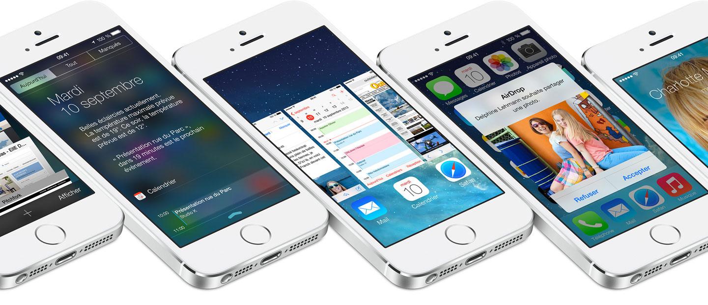 ios 7 iOS 7 est installé sur 80 % des appareils compatibles