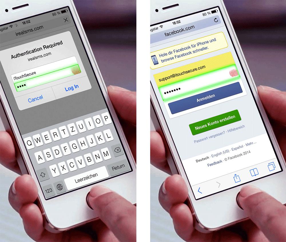 screenshot 2 Cydia : iTouchSecure, utilisez le Touch ID pour tous vos mots de passe