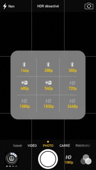 CameraTweak2 0 320x568 Cydia : CameraTweak2, améliorez lapplication Appareil Photo