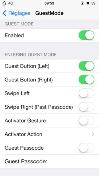 GuestMode 0 320x568 Cydia : GuestMode est disponible