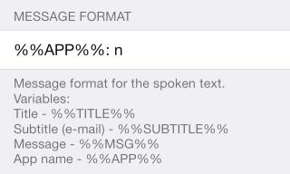 Speak Notifications 3 320x192 Cydia : Speak Notification, donnez de la voix à vos notifications