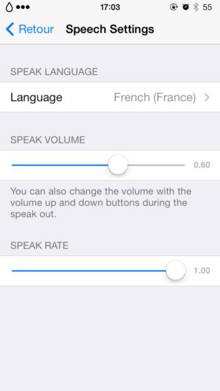 Speak Notifications 4 320x568 Cydia : Speak Notification, donnez de la voix à vos notifications