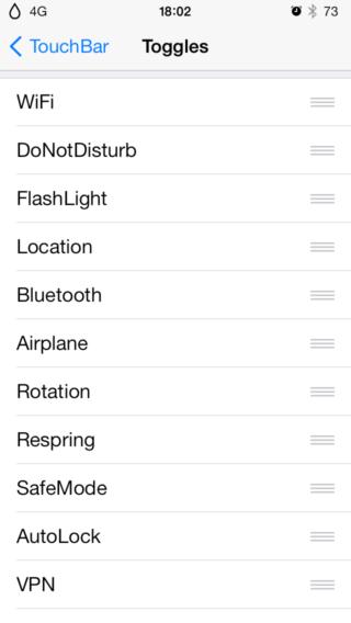 TouchBar 0 320x568 Cydia : TouchBar, une nouvelle barre de réglages pour votre appareil