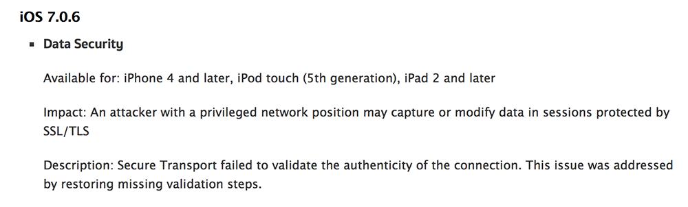 iOS 7.0.6 iOS 7.0.6, la mise à jour est conseillée